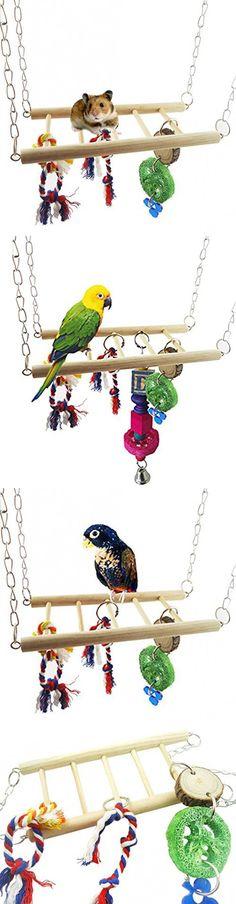 Mr Garden Wooden Ladder Bird Toy Flexible with 12 pcs Steps