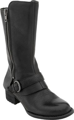 Born Crown Aubra Tall boot, Women, Comfort by Construction with flexible insoles, PlanetShoes.com (Black)