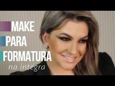 Na íntegra: Maquiagem dourada para formatura por Alice Salazar - YouTube