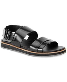 Calvin Klein Dex Leather Strap Sandals - All Men's Shoes - Men - Macy's Leather Sandals, Patent Leather, Fly Gear, Shoe Sale, Summer Sale, Strap Sandals, Spring Summer Fashion, Shoes Sandals, Calvin Klein