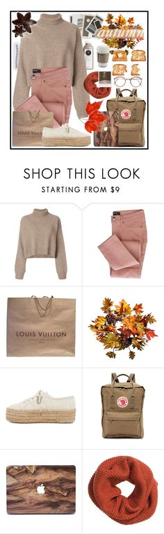 """""""~EVEN THE LEAVES FALL FOR YOU~"""" by justgirlycouture ❤ liked on Polyvore featuring Rejina Pyo, Louis Vuitton, Improvements, Superga, Fjällräven, Pieces, H&M, Impossible Project and setsbyjustgirlycouture"""