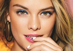 Nina Agdal shows off Spring/Summer 2014 Make Up Looks from Avon