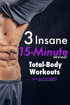 Use these 3 insane total-body workouts to burn fat and gain an incredible amount of muscle. Train anywhere in 15 minutes flat with only your bodyweight. Losing Belly Fat Diet, Belly Fat Diet Plan, Lose Belly Fat, Bodyweight Strength Training, Pilates Training, Body Weight, Weight Loss, Losing Weight, Fat Burning Workout
