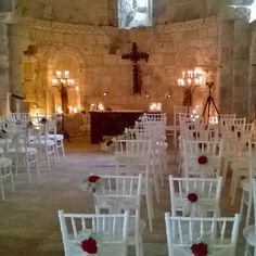 The chapel at Chateau de Lisse looking extra romantic