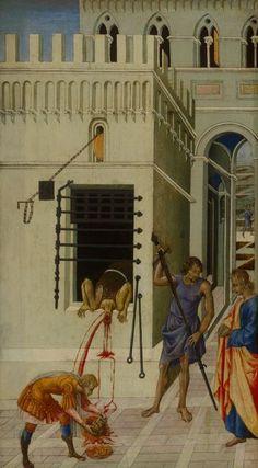 Giovanni di Paolo  Italian, c. 1399–1482, The Beheading of Saint John the Baptist