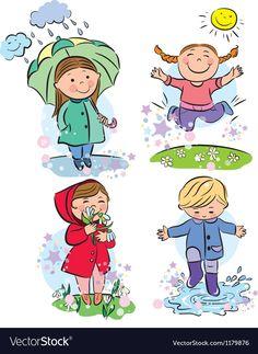Star Rain Cliparts, Stock Vector And Royalty Free Star Rain Illustrations Four Seasons Art, Rain Illustration, Star Rain, Applique Stitches, Children Sketch, Spring Images, Beach Kids, Cartoon Pics, Kids Education