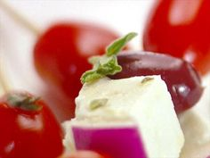 Skewered Greek Salad Video : Food Network - FoodNetwork.com