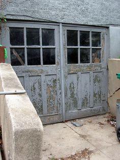 1920's carriage style garage doors
