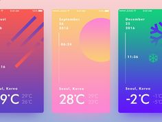Weather UI Concept - Expolore the best and the special ideas about Interface design Interaktives Design, Module Design, App Ui Design, User Interface Design, Layout Design, Flat Design, Seoul, Application Ui Design, Palette Pastel