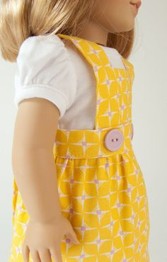 18 American Girl Doll Clothing Two Piece Summer Apron by PattiKuz