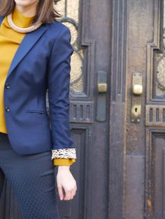 Blue and Mustard is a very nice combo