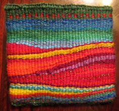 Ruth's weaving projects Great artistic weaving blog with most projects done on small improvised looms.  Awesome.