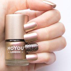 Stamping Nail Polish - Ladygold Pink