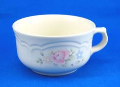 Pfaltzgraff TEA ROSE Soup Mug 2.625 in. Pink Blue Flowers Stoneware. As always your entire order ships for only $4.99, only at http://www.totallytableware.com/