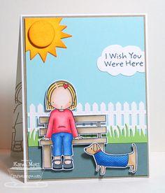 Pure Innocence Wish You Were Here, Best Friends, Sunshine Die-namics, Cloud Trip Die-namics, Picket Fence Die-namics, Grassy Edges Die-namics - Karen Motz #mftstmpos