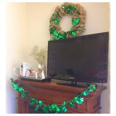 DIY ~St. Patrick's Day burlap wreath