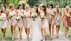 Essential Things For Beige Bridesmaid Dress Champagne Wedding Parties 23 - sitihome Pale Pink Bridesmaids, Champagne Bridesmaid Dresses, Bridesmaids And Groomsmen, Short Bridesmaid Dresses, Wedding Bridesmaids, Wedding Attire, Wedding Dresses, Bridesmaid Pictures, Wedding Images