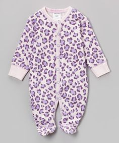 Love this Baby Steps Purple Leopard Footie - Infant by Baby Steps on #zulily! #zulilyfinds