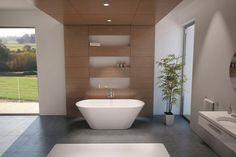 Riho Barcelona bad is een vrijstaand bad met een mooie ovale vorm en wordt geproduceerd in een Solid Surface uitvoering.