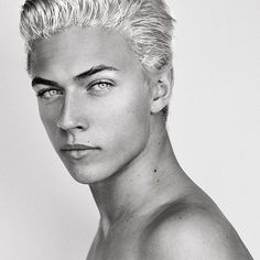 Culley Rune, as represented by model Lucky Blue Smith   #luckybluesmith ...   b&w photo