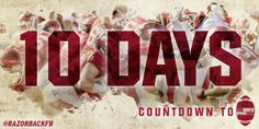 Arkansas Football - Countdown Graphic to Red-White Spring Game