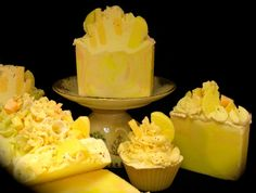 Citrus Blast Natural Soap Cupcake with Shea, Coconut Milk, Silk, and More. on Etsy, $5.50