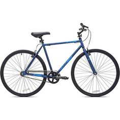 f9a2dda24 Mens Bicycle 700c Kent Fixie Bike Single Speed Lightweight Steel Frame Blue New  Fixed Gear Bicycle