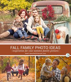 Fall is a popular time of year for outdoor family photos. The colorful leaves and grasses provide a stunning, natural backdrop and give a warm glow to the light