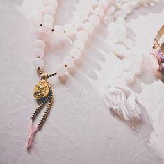 Buddha AMULET MALA long necklace // Buddha charm / SILK tassel