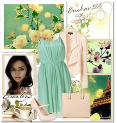 Flowing Mint Green Dress, created by lauren-luvtango on Polyvore