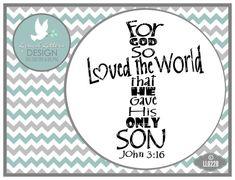 For God So Loved John 3:16 Cross LL022 B  Cross by lyricalletters