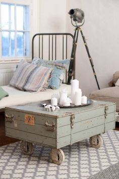 Love this suitcase table