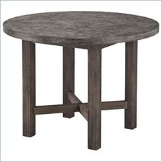 Home Styles Concrete Chic Round Dining Table in Brown and Gray 41.5