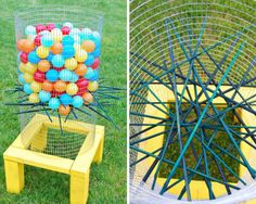 50 Outdoor Games to DIY This Summer via Brit + Co. (Backyard Kerplunk)