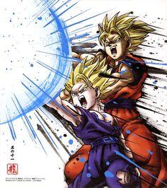 Dragon Ball Shikishi ART 3 Gohan Goku Vs Cell