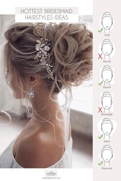 48 Hottest Bridesmaid Hairstyles For 2020 + Tips & Advice ❤ Check out bridesmaid hairstyles for any hair length here. Inspiration for elegant updos, curls and even mismatched hairstyles for your girls. #weddingforward #wedding #bride #weddinghairstyles #WeddingHair #BridesmaidHairstyles Chic Hairstyles, Short Bob Hairstyles, Hairstyles With Bangs, Pretty Hairstyles, Bun Hairstyle, Short Wedding Hair, Wedding Hairstyles For Long Hair, Braids For Long Hair, Bridesmaid Hairstyles