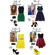 """""""Hogwarts House- Fancy"""" by triple-threat36 on Polyvore"""
