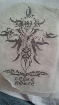 Memorial tattoo design variant