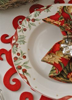 gorgeous Christmas plate