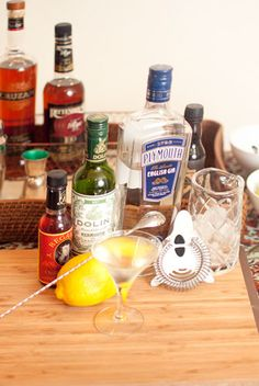 Pinning this simply because this woman actually knows what goes into a real Martini. *joy*