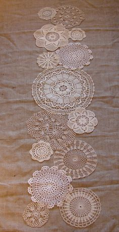 Doily runner. $73.00, via Etsy.