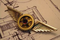Gears and wings.