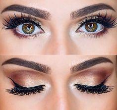 Brown/gold makeup