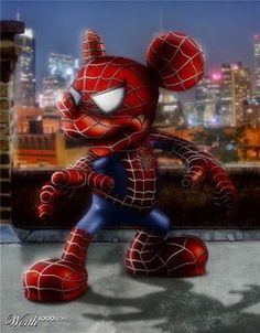 miky mouse spiderman