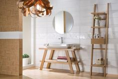 Koupelna White Bathroom, Ladder Decor, Vanity, Mirror, Furniture, Home Decor, Strip, Beige, Dressing Tables