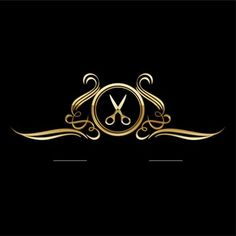 Barber Shop Interior, Barber Shop Decor, Logo Studio, Home Hair Salons, Hair Salon Logos, Barber Logo, Nail Salon Design, Barbershop Design, Luxury Logo