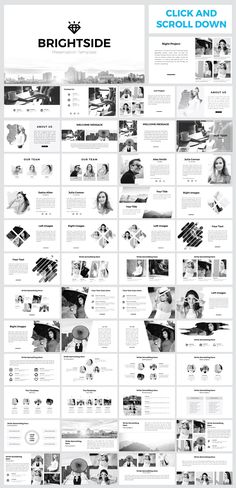 Brightside PowerPoint Template by yellowplate on @creativemarket
