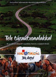 Turisztikai információk Horvátország térképpel, Tele túraútvonalakkal; 2015 , Croatia , travel brochure World Traveler, Country, Life, Croatia, Rural Area, Country Music