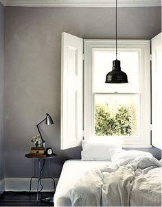 Grey walls for bedroom