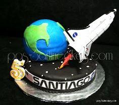 Space Shuttle Birthday cake